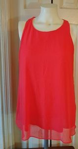 Banana Republic Coral Layered Tank Top Size Medium